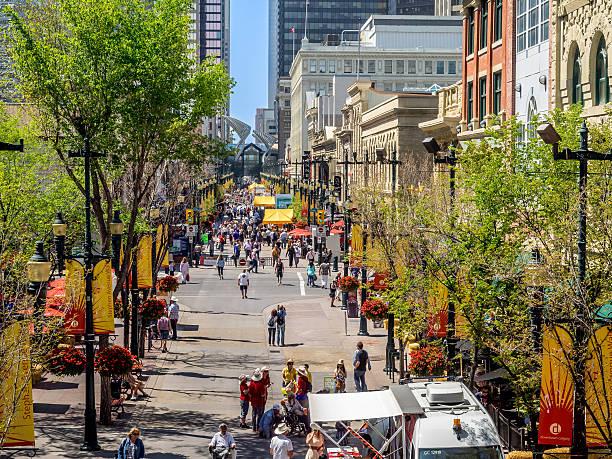 Stephen Avenue a Calgary - foto stock