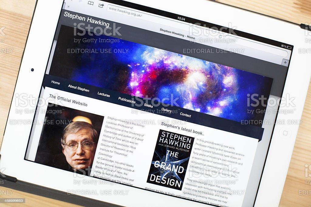 Stephen Hawking Website auf dem iPad – Foto