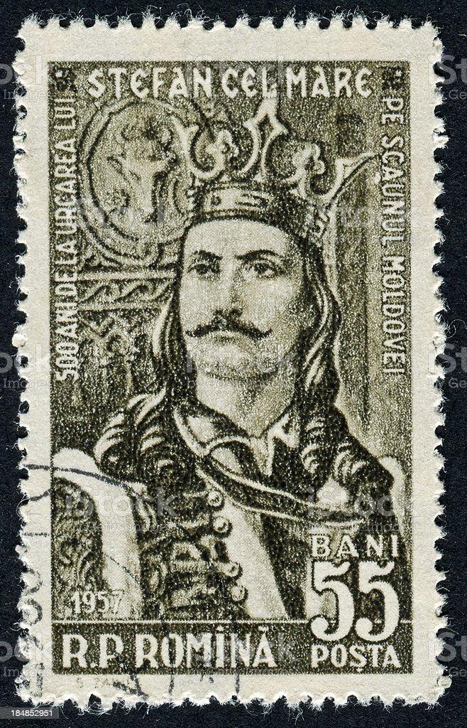 Stephen III Of Moldavia Stamp royalty-free stock photo