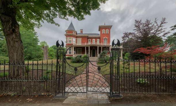 Stephen King's house in Bangor stock photo