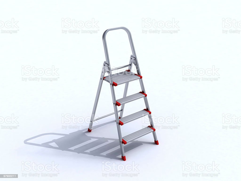 3D step-ladder royalty-free stock photo