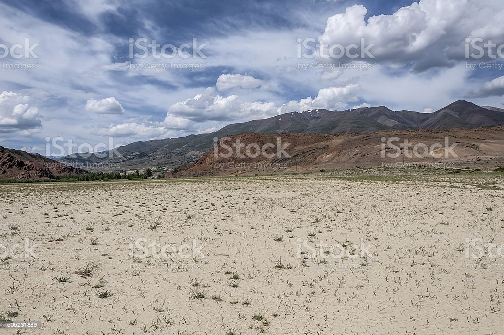 steppe desert mountain sky royalty-free stock photo