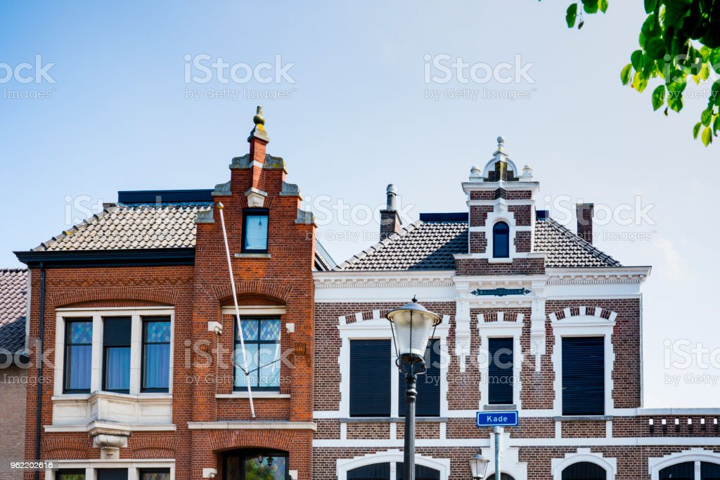 stepped gable, Oudenbosch, The Netherlands stock photo