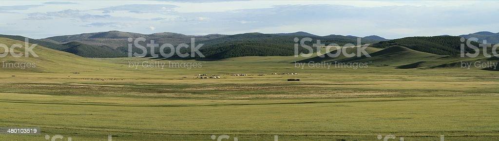 Steppenlandschaften der Mongolei stock photo
