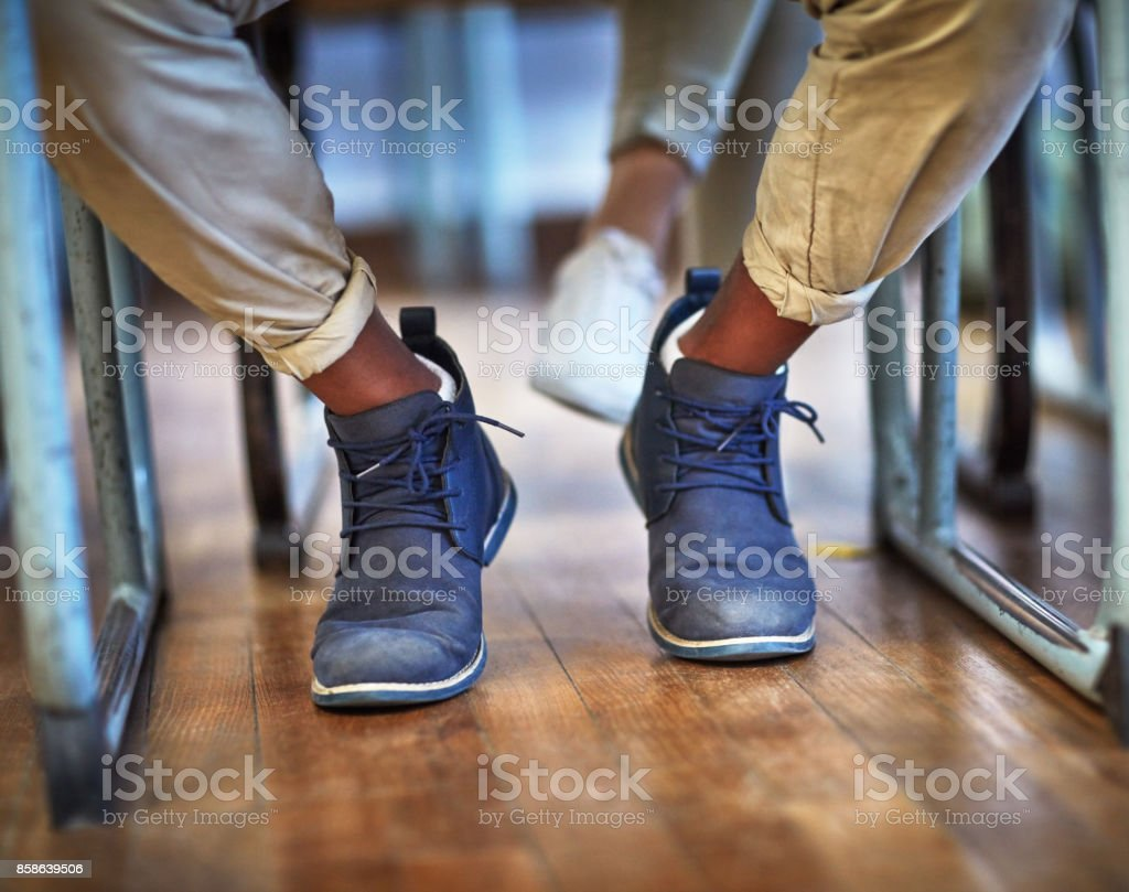Stepping into a bright future stock photo