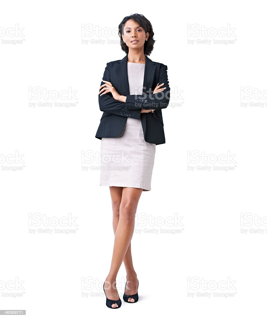 Stepping into the business world with confidence and style stock photo
