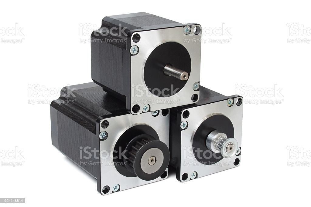 Stepping motors stock photo