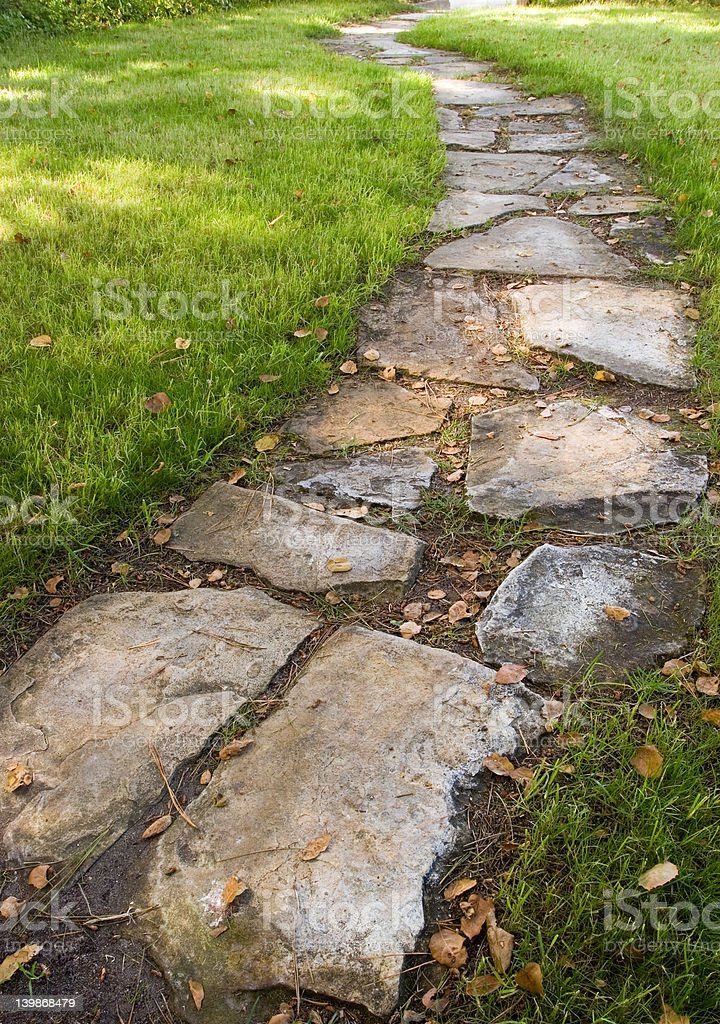 Stepping Stone Path royalty-free stock photo