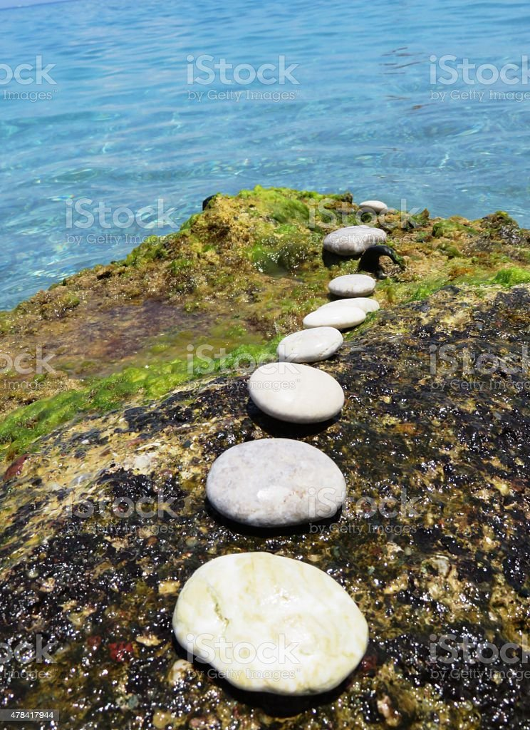stepping stone stock photo
