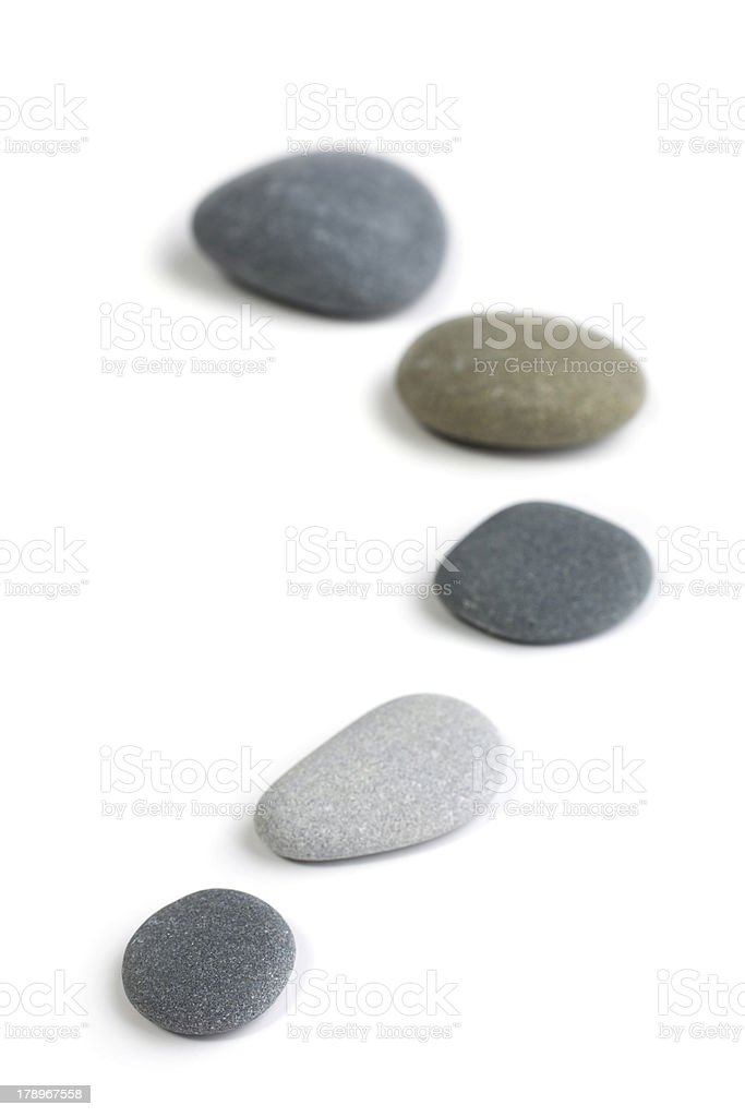 Stepping Stone Zen Snaking Curved Line of Stones royalty-free stock photo