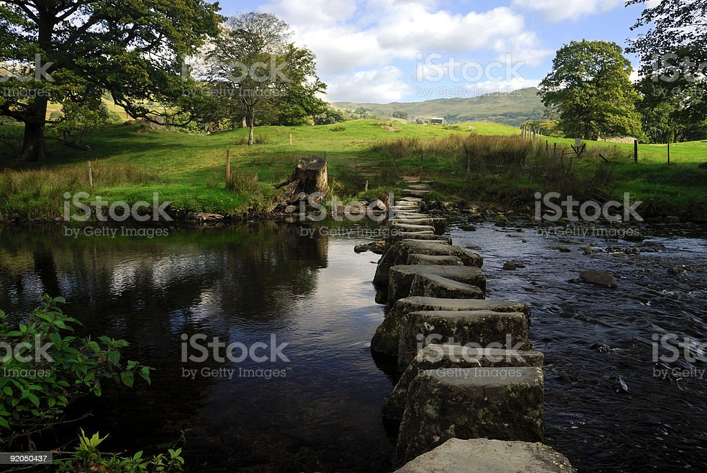 Stepping stones 2 stock photo