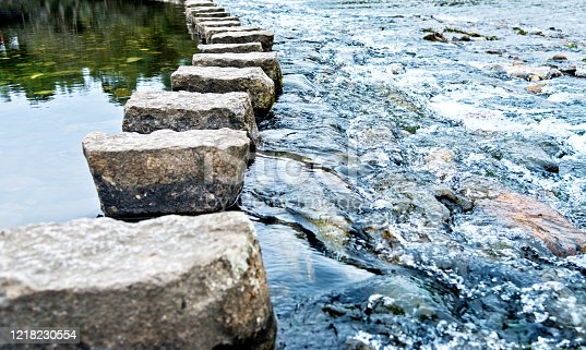 Stepping stones on the water