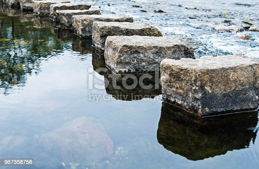 1150191246 istock photo Stepping stones on the water 957358756