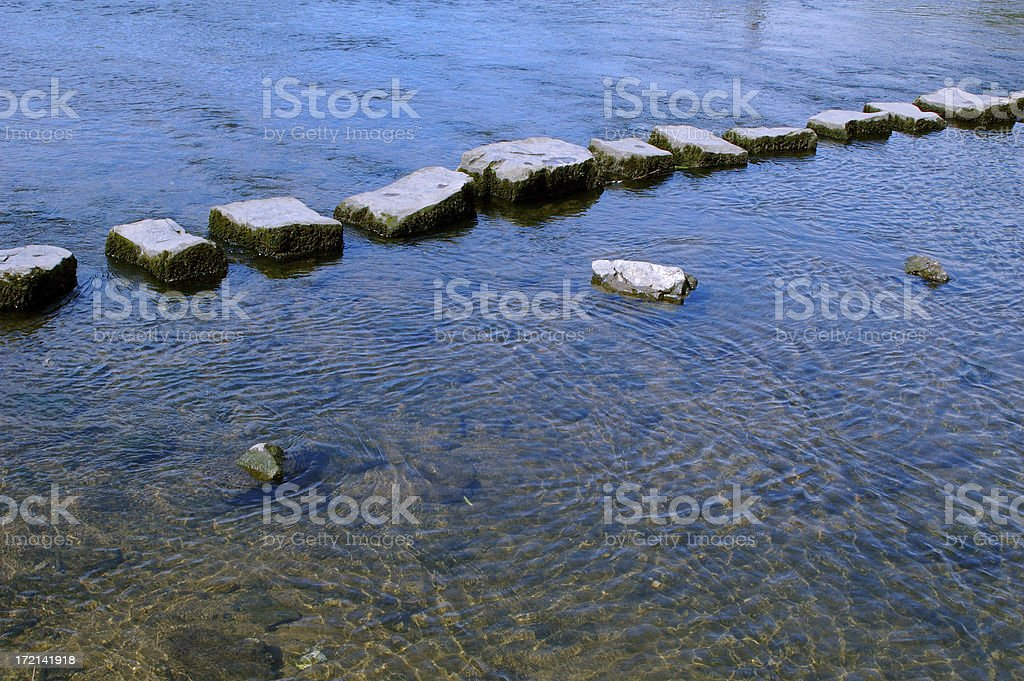 stepping stones royalty-free stock photo
