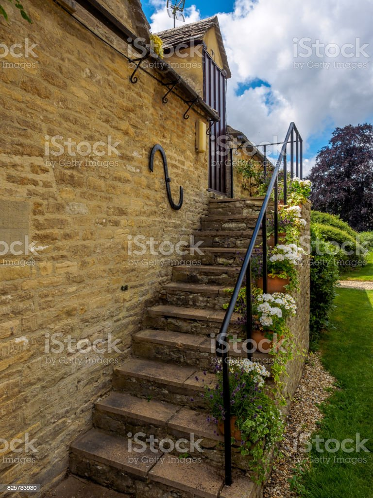 Stepping up in the Cotswolds stock photo