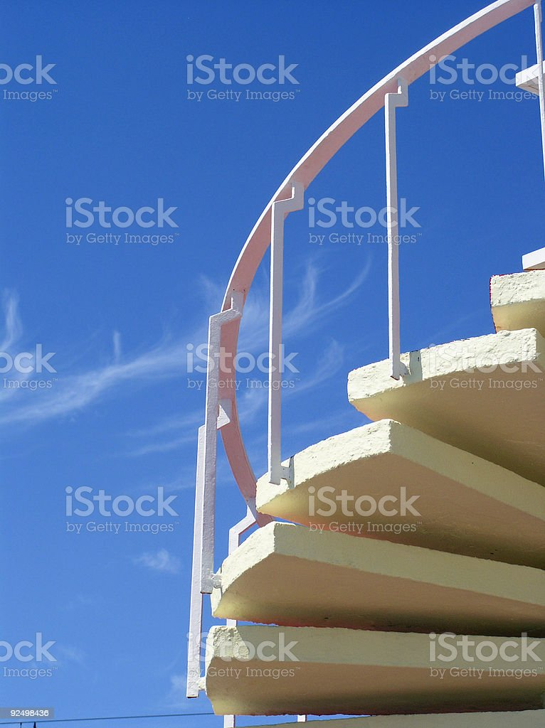 Steps and sky royalty-free stock photo