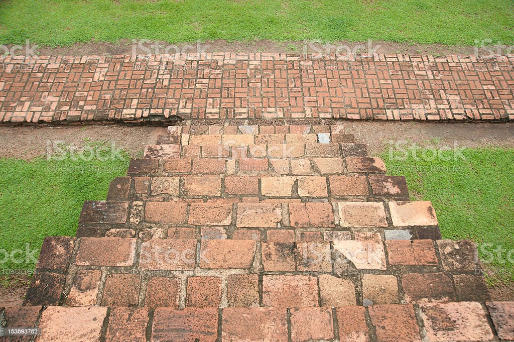 Steps and walkway royalty-free stock photo