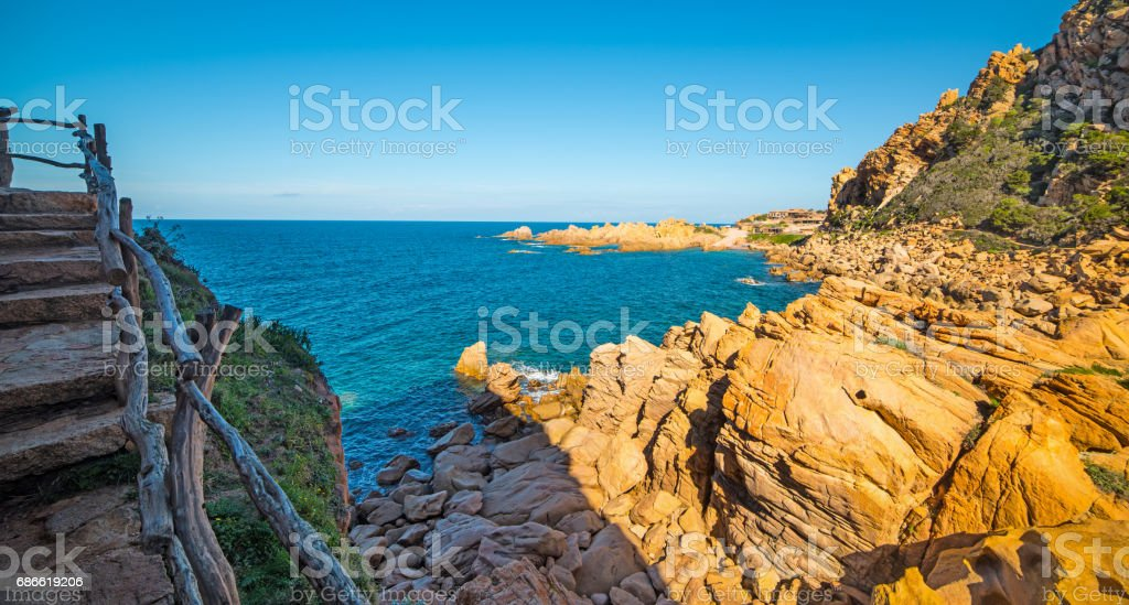 Steps by the sea royalty-free stock photo