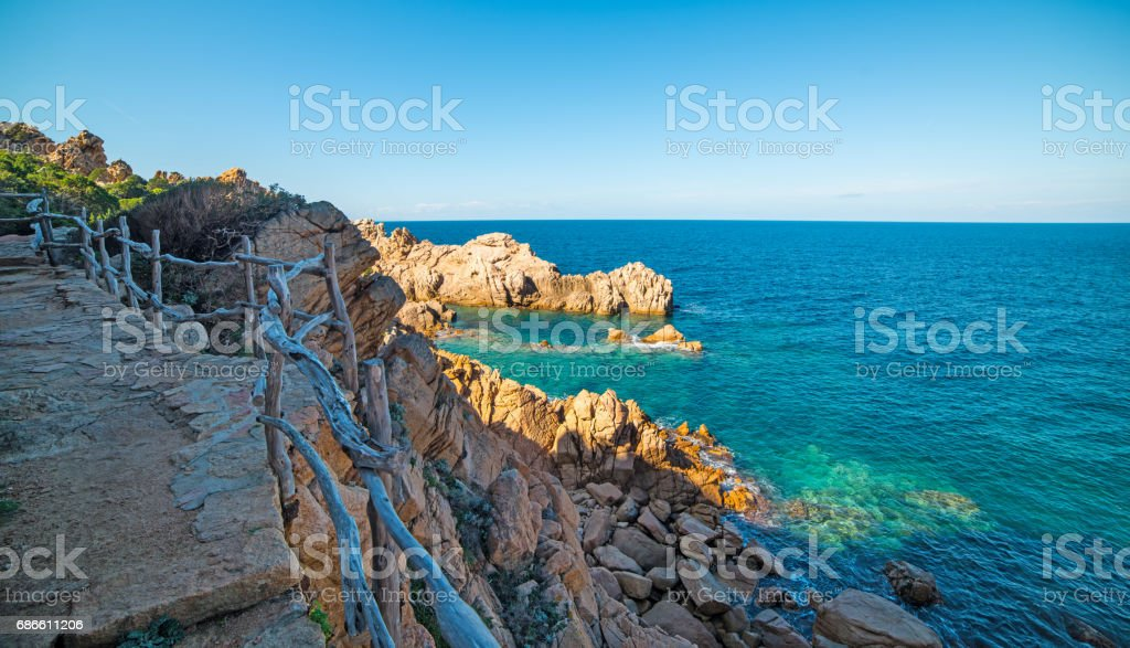 Steps by the shoreline royalty-free stock photo