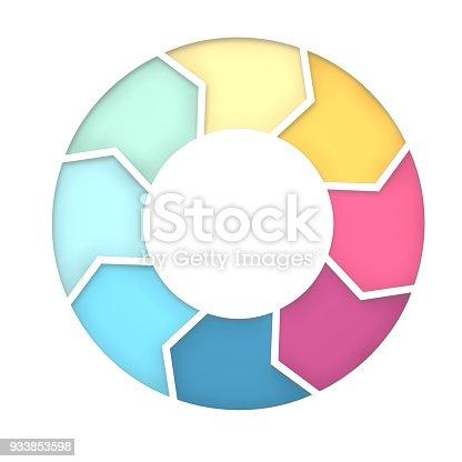 istock 8 steps diagram for presentation background. 3D Rendering 933853598