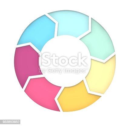 istock 7 steps diagram for presentation background. 3D Rendering 933853652