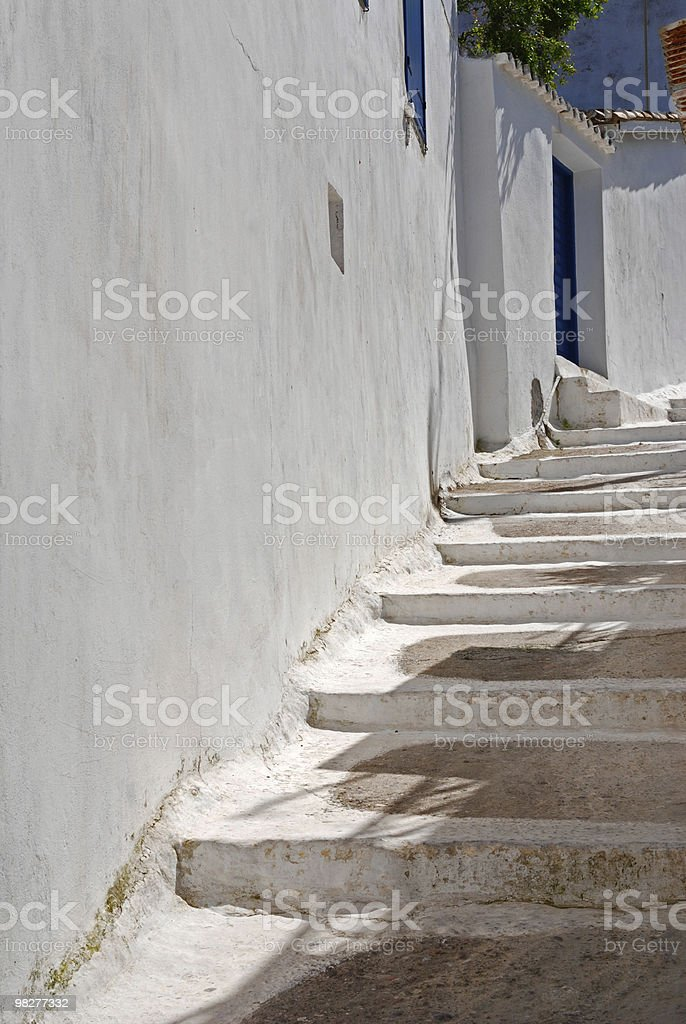 Steps in a characteristic greek village royalty-free stock photo