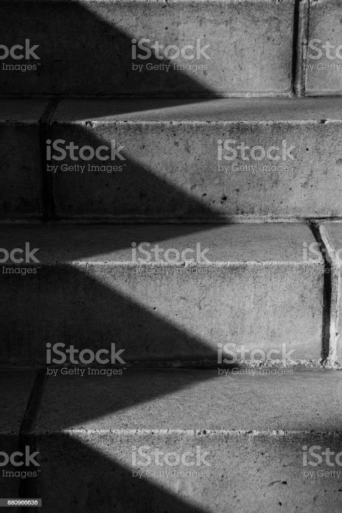 Steps in Morning Shadows stock photo