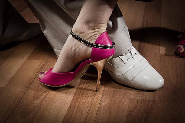 Steps in Tango stock photo