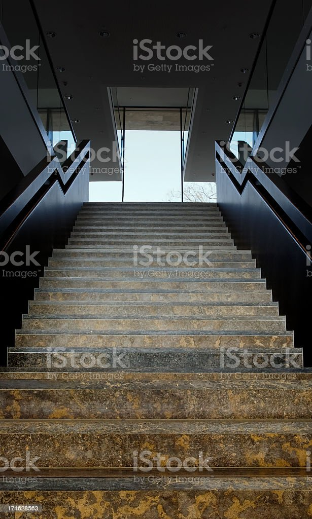 Steps into the light royalty-free stock photo