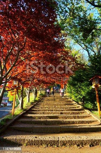 istock Steps leading to Arakura Fuji Sengen Jinja shinto shrine 1197619569