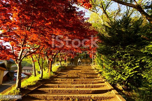istock Steps leading to Arakura Fuji Sengen Jinja shinto shrine 1197620621