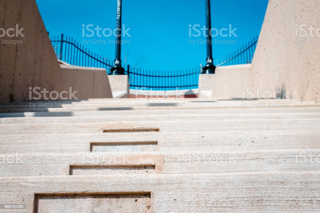 Steps leading up to the top of Vinegar Hill royalty-free stock photo