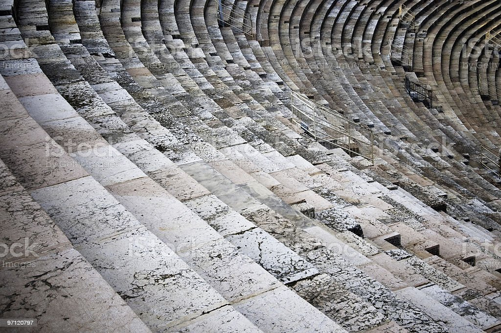 Steps of an ancient amphitheater royalty-free stock photo