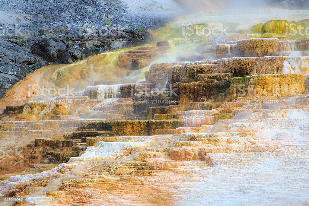 Steps of Colors Mammoth Hot Springs - Yellowstone stock photo