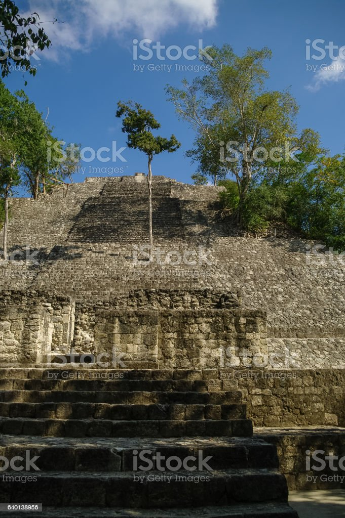 Steps of the pyramid stairs. stock photo