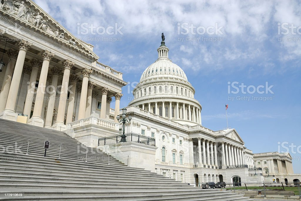 Steps of the US Capitol Building stock photo