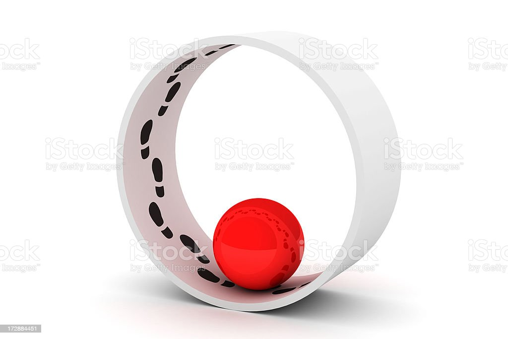 steps on circle royalty-free stock photo
