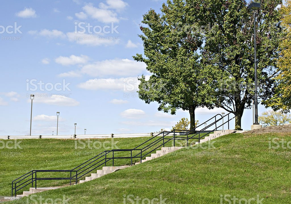 Steps on Hillside royalty-free stock photo