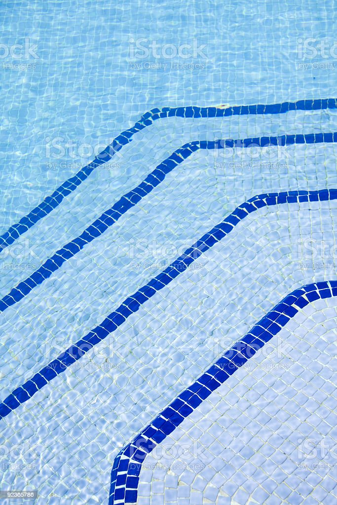 Steps swimming pool royalty-free stock photo