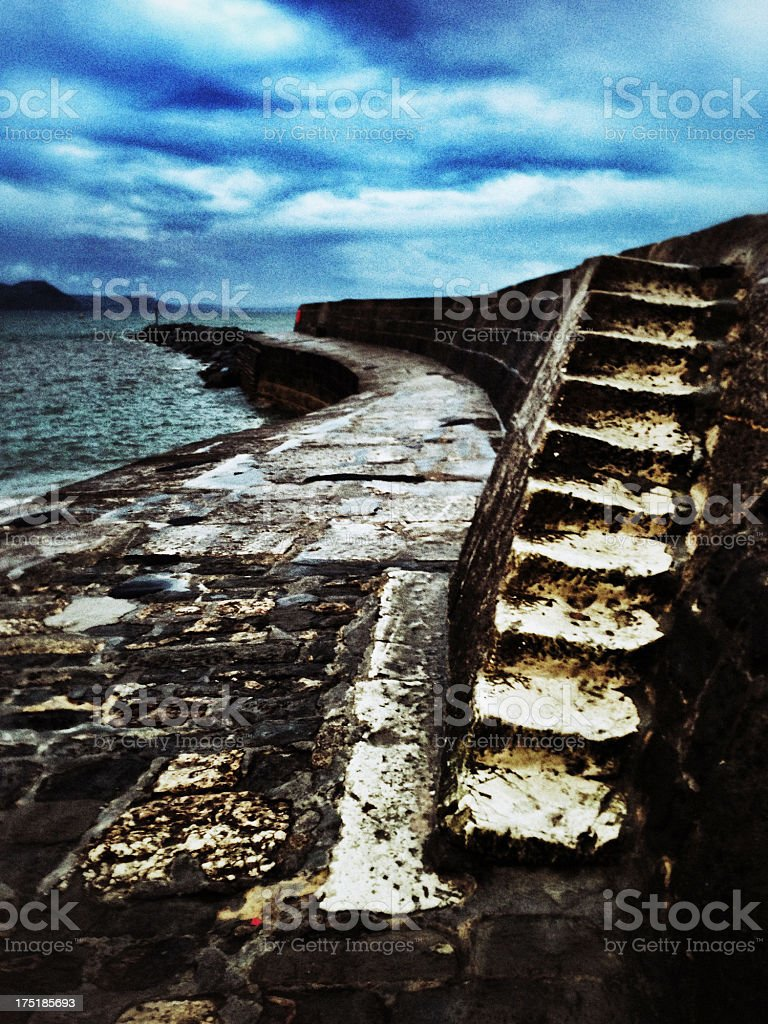 Steps, The Cobb, Lyme Regis royalty-free stock photo
