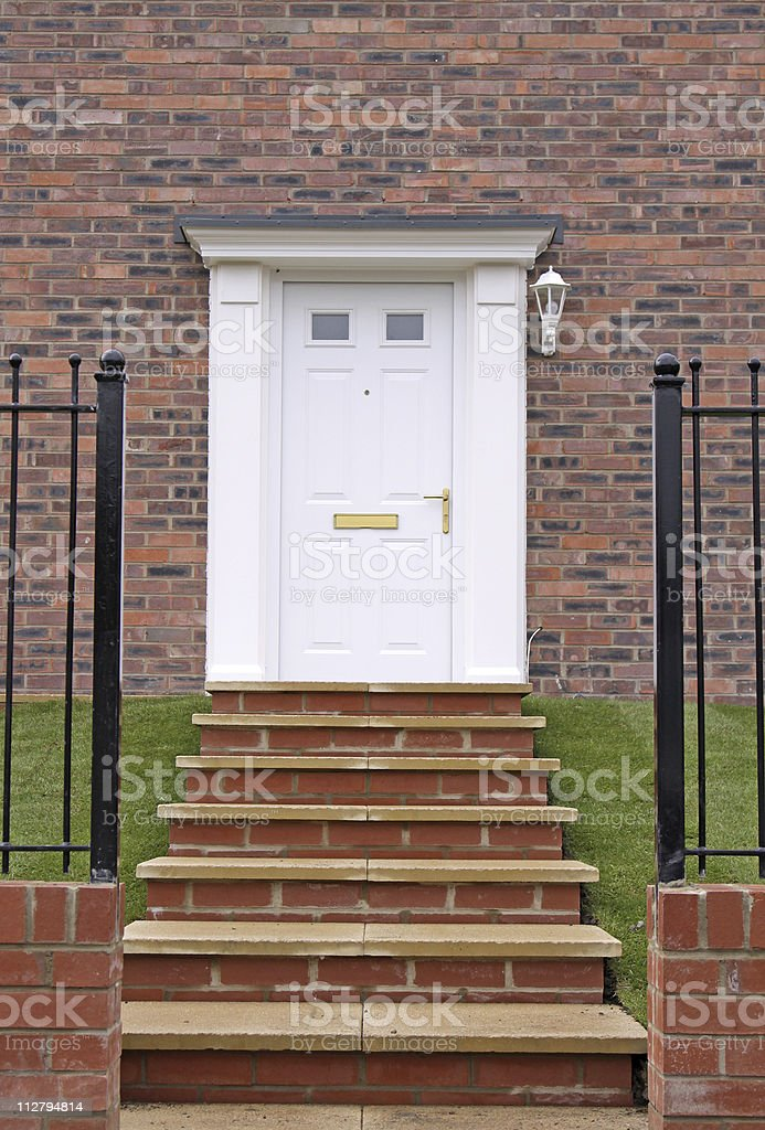 Steps To A Front Door Stock Photo More Pictures Of Brick Wall Istock