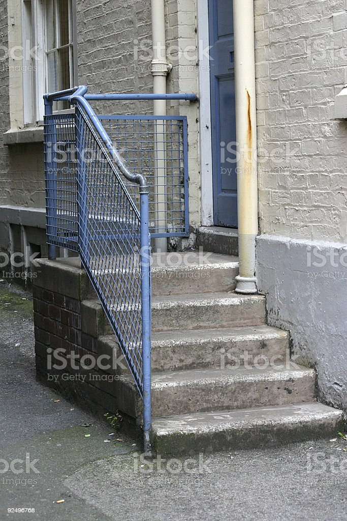 Steps to Back Door royalty-free stock photo