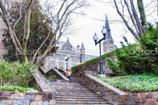 Steps to historic old georgetown university on campus with people picture id824064200?b=1&k=6&m=824064200&s=612x612&h=2z5fapcdr6hegnyk4fjsymftquplt5lsfv7wxmmxqg0=
