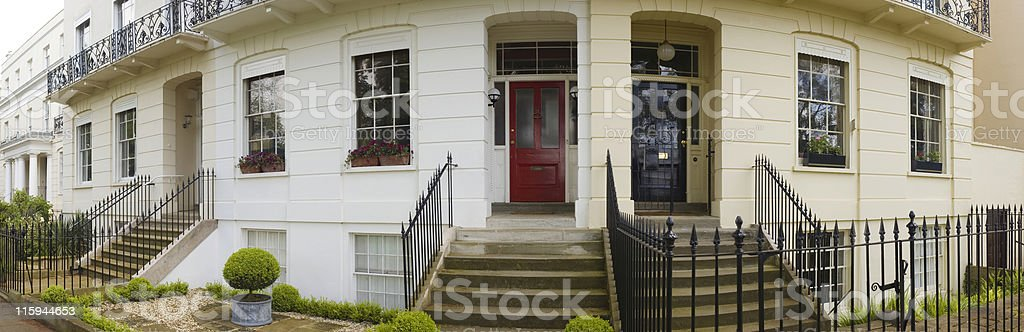 Steps to home stock photo