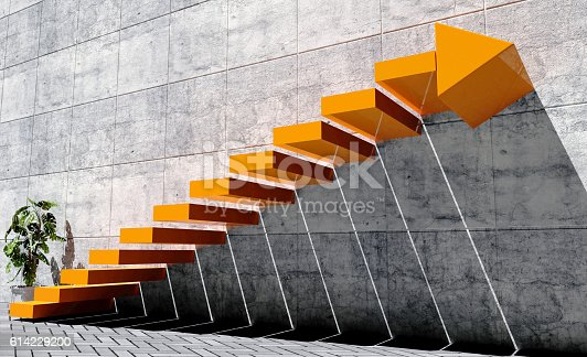 istock Steps to move forward to next level, success concept 614229200
