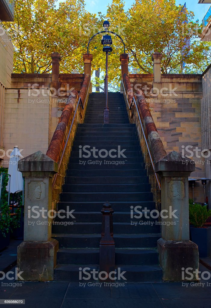 Steps To Sydney's Circular Quay stock photo