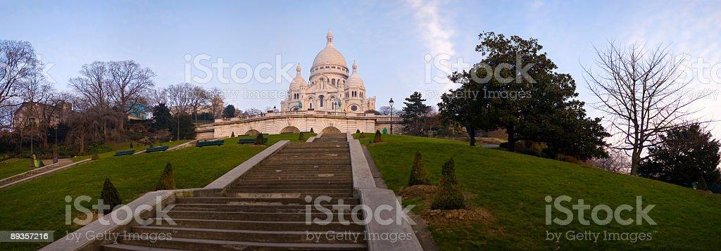 Kroki do bazyliki, Paryż zbiór zdjęć royalty-free