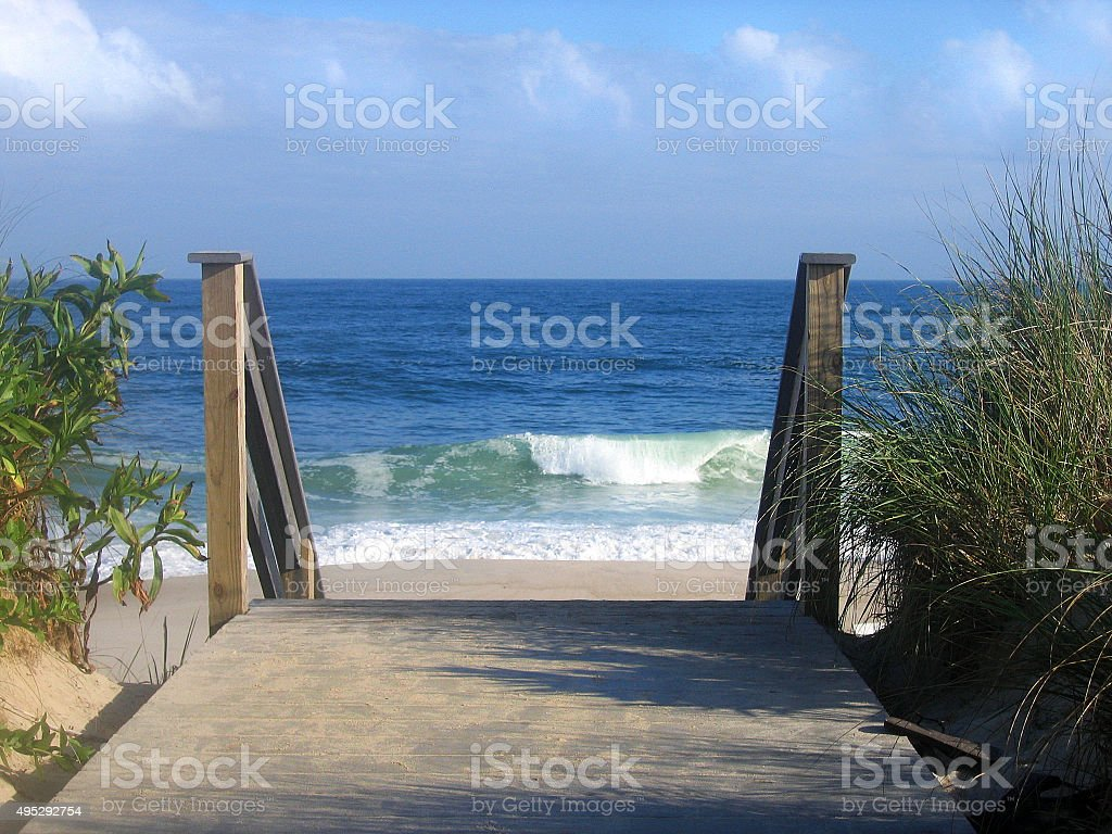 Steps to the Beach stock photo