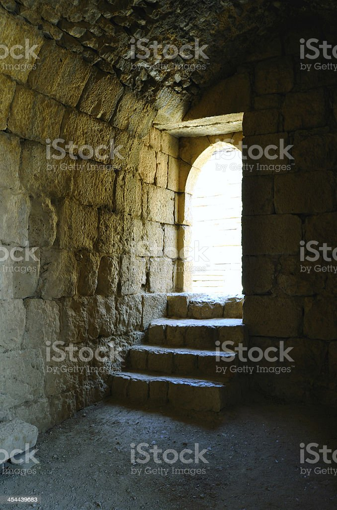 Steps to the light royalty-free stock photo