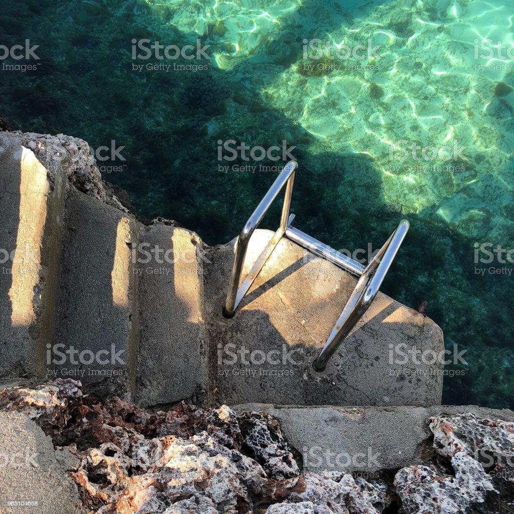 Steps to the ocean zbiór zdjęć royalty-free